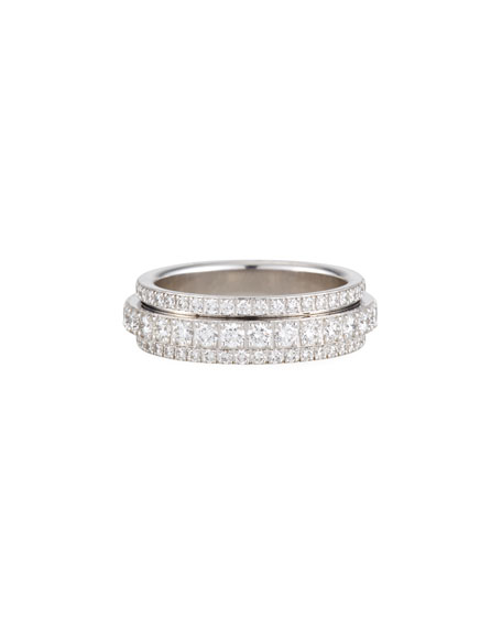 Possession Bandeau Diamond Ring in 18K White Gold, Size 54