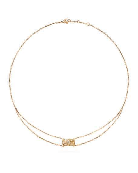 COCO CRUSH PENDANT IN 18K BEIGE GOLD AND DIAMONDS