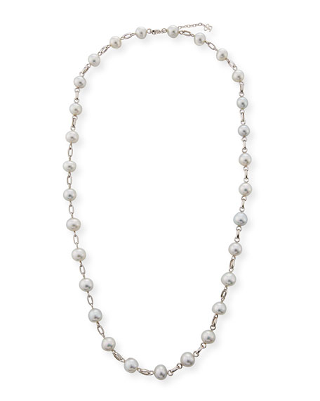 Belpearl 18k South Sea Pearl Station Necklace