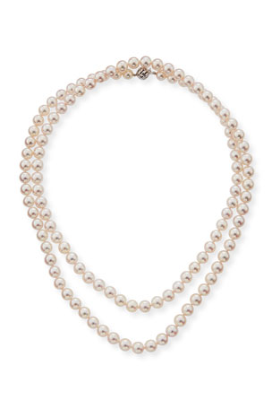 Belpearl 18k Single-Strand Akoya Pearl Necklace, 7.5mm