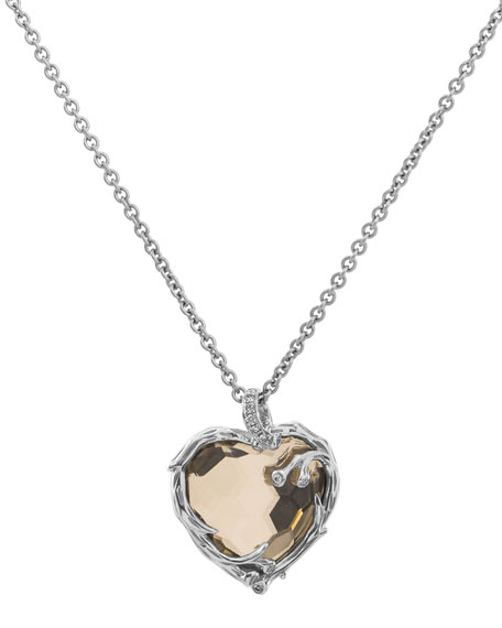 Michael Aram Enchanted Forest Twig Heart Necklace w/ 18k Gold