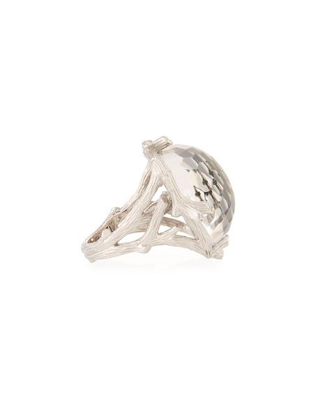Michael Aram Enchanted Forest Hematite & Diamond Ring