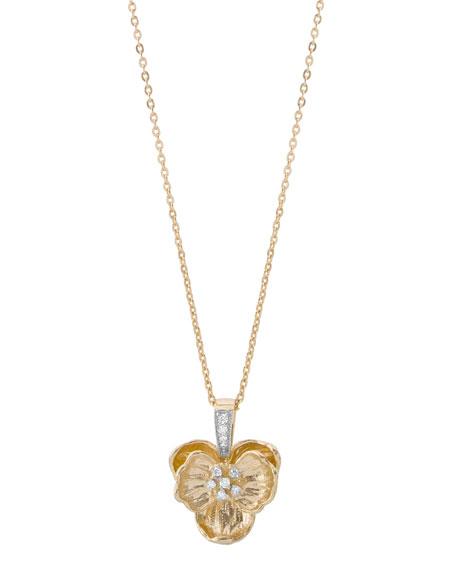 Michael Aram 18k Medium Orchid Pendant Necklace w/ Diamonds