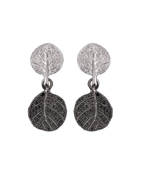 Michael Aram Botanical Leaf Diamond Drop Earrings