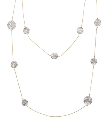 "Michael Aram Botanical Leaf Long Diamond Station Necklace, 42""L"