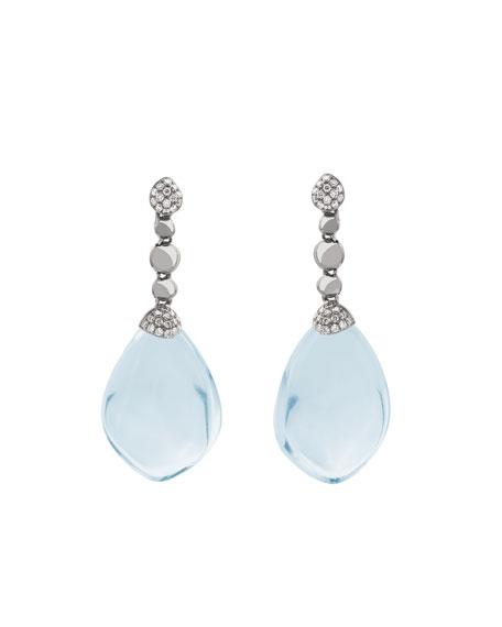 Michael Aram Molten Drop Earrings w/ Blue Topaz
