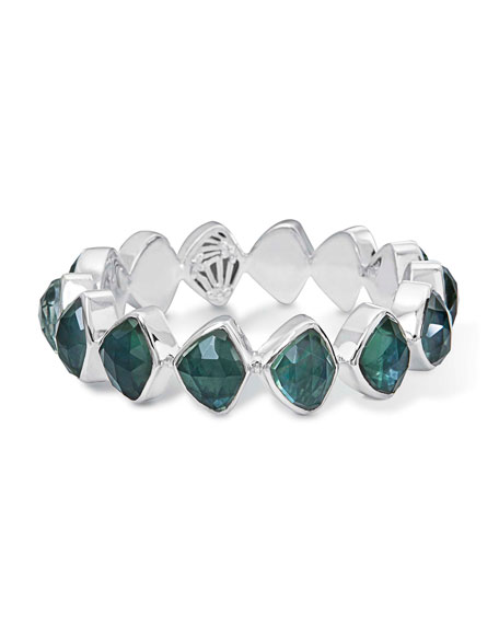 Faceted Green Quartz & Mother-of-Pearl Doublet Bracelet