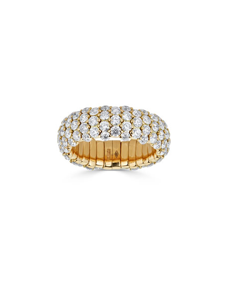 18k Yellow Gold Diamond Stretch Ring