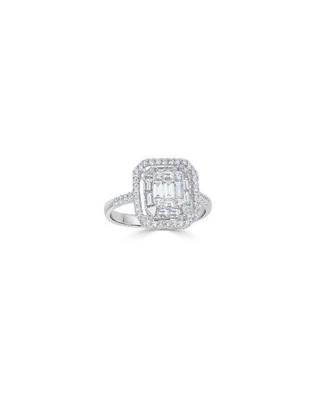 18k Mosaic Mixed-Cut Diamond Ring, 1.0tcw