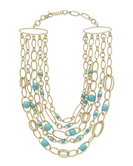 18k Nova Turquoise Collar Necklace