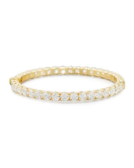 18K Yellow Gold Diamond Eternity Bangle, 16.70 TCW