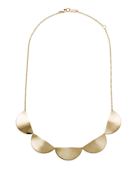 18k Gold Classico Half-Disc Collar Necklace