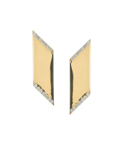 Vanity Expose Diamond Stud Earrings, 14k Yellow Gold