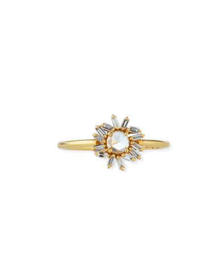 18k Diamond Firework Ring, Size 6.5