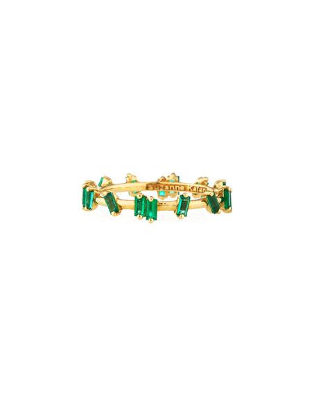 18k Gold Emerald Baguette Ring