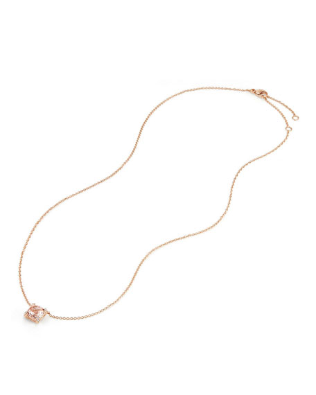 "David Yurman Châtelaine 18k Rose Gold Necklace w/ Morganite, 18"""