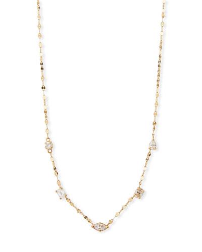 14k Multi-Shape Diamond Necklace