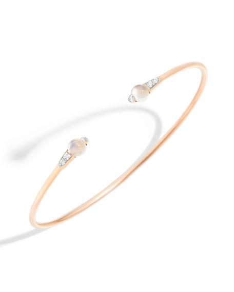 18k M'ama Non M'ama Bangle Bracelet w/ Moonstone & Diamonds
