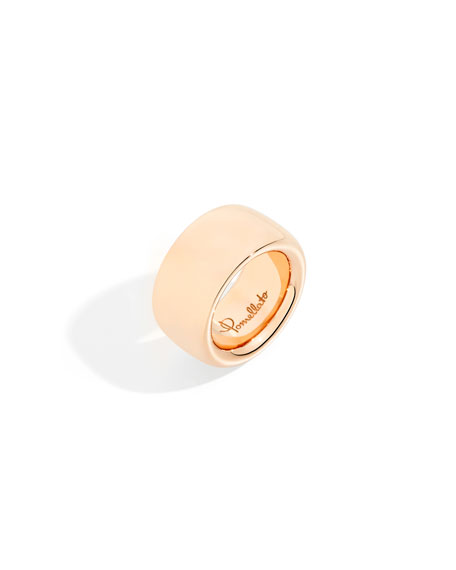 Pomellato 18k Rose Gold ICONICA Maxi Band Ring, Size 7