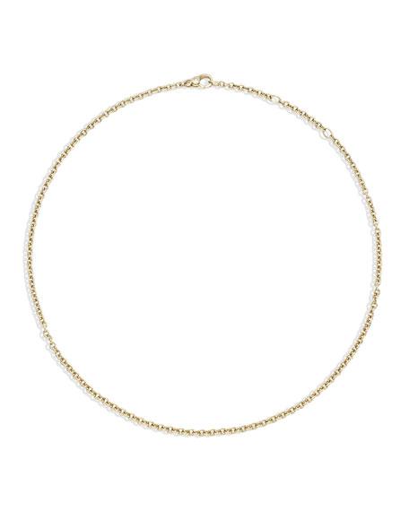 """Pomellato Sabbia Rose Gold Cable Chain Necklace, 18""""L"""