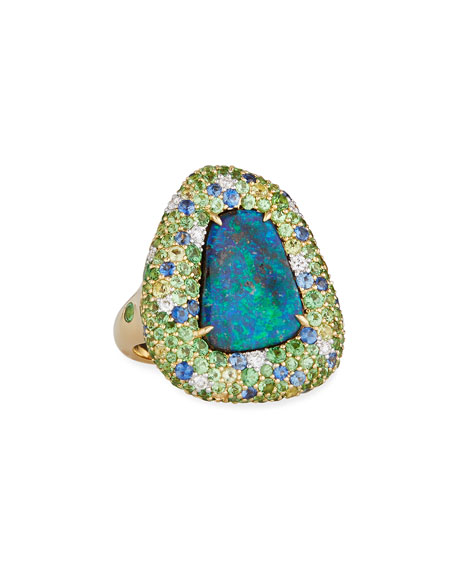 Margot McKinney Jewelry 18k Yellow Gold Opal Ring
