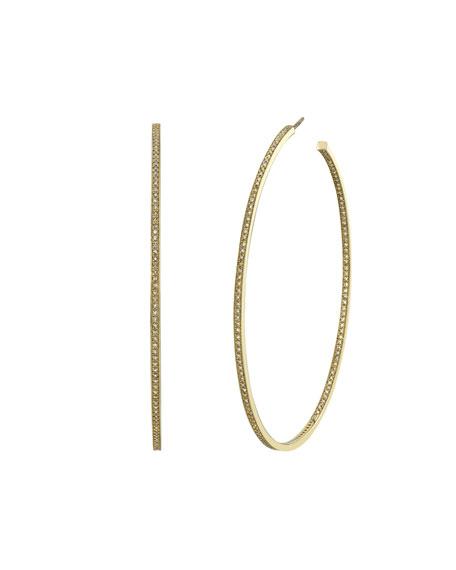 Sheryl Lowe 14k Gold Inside-Out Diamond Hoop Earrings