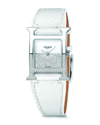 Heure H  Stainless Steel & Leather Strap