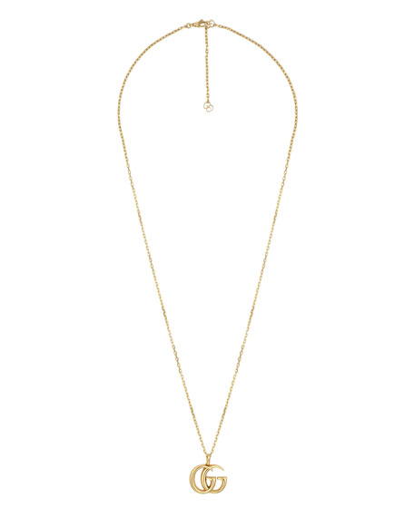 """Gucci 18k Gold GG Running Necklace, 24"""""""