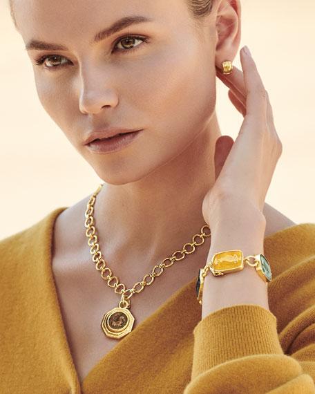 Elizabeth Locke New Muse 19k Gold Glass Intaglio Bracelet