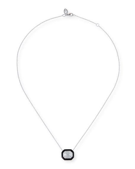 Nikos Koulis 18k White Gold Oui Diamond & Enamel Necklace