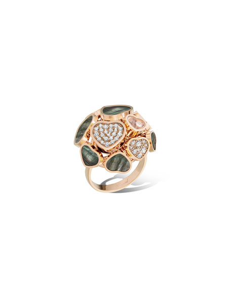 Chopard Happy Hearts 18k Rose Gold Mother-of-Pearl Ring