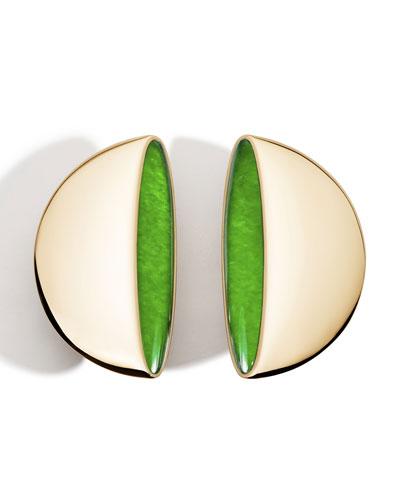 Eclisse 18k Rose Gold Earclips  Jade
