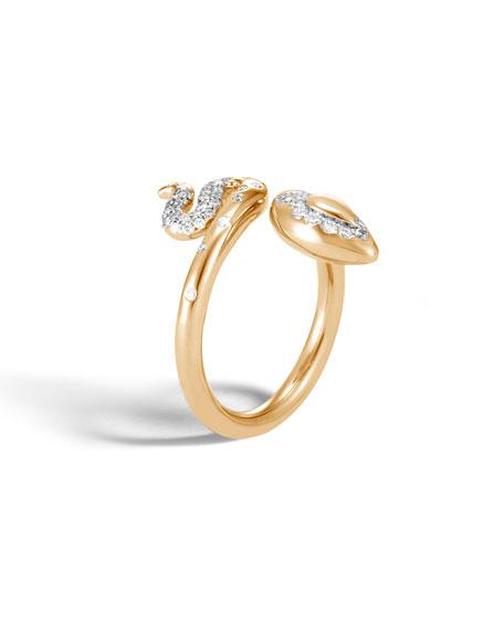 John Hardy 18k Legends Cobra Ring w/ Diamonds, Size 7
