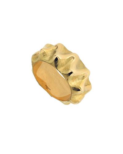 18k Gold Wave Bracelet