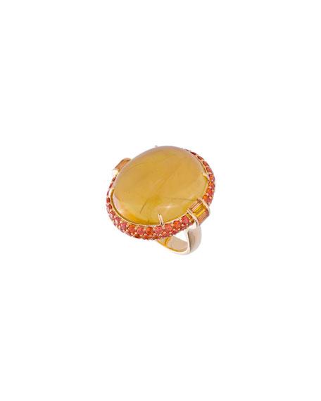 Margot McKinney Jewelry 18k Beryl & Sapphire Oval