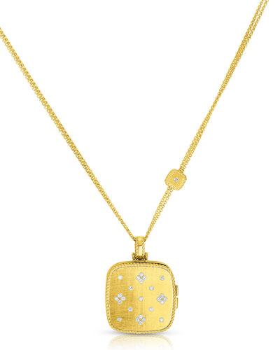 Roberto Coin 18k Gold Venetian Princess Diamond Locket Necklace 34