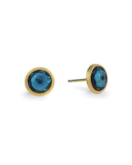 Marco Bicego Jaipur 18k Blue Topaz Stud Earrings