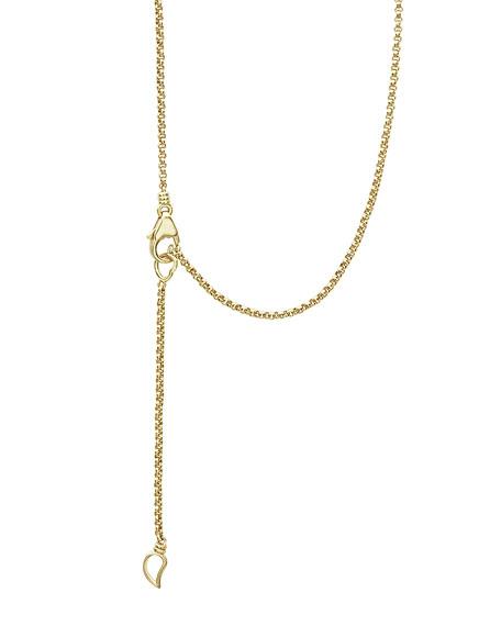 LAGOS 18k Caviar Gold Tassel Necklace w/ Diamonds