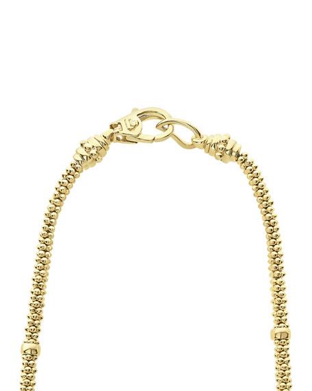 "LAGOS 18k Caviar Gold Rope Necklace w/ Diamonds, 16"""