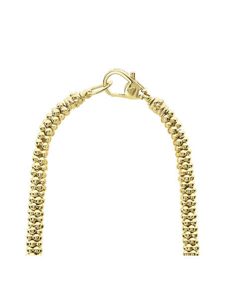 LAGOS 18k Gold Caviar Rope & Diamond Necklace, 19mm
