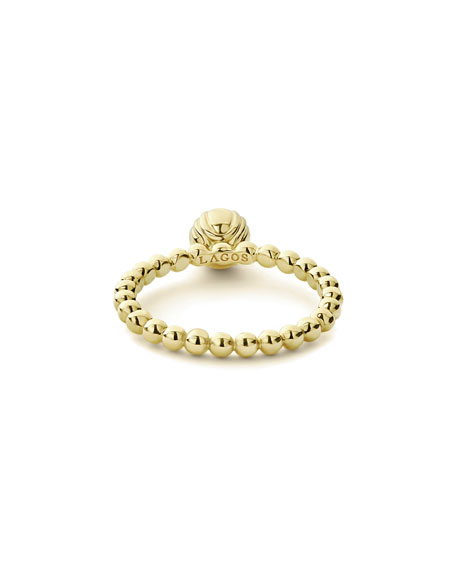 LAGOS 18k Caviar Gold Flower Bud Ring, Size 7