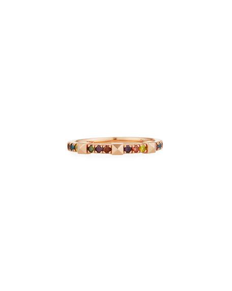 Stevie Wren 14k Rose Gold Rainbow Diamond & Pyramid Ring, Size 7