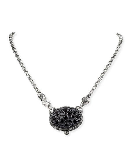 Konstantino Black Spinel Pendant Necklace
