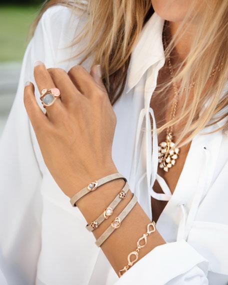Tamara Comolli Signature 18K Rose Gold Small Diamond Chain Bracelet