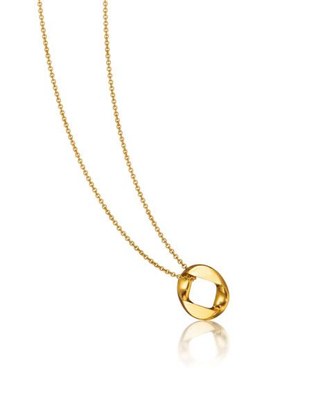 "Verdura 18k Gold Curb-Link Pendant Necklace, 18"""