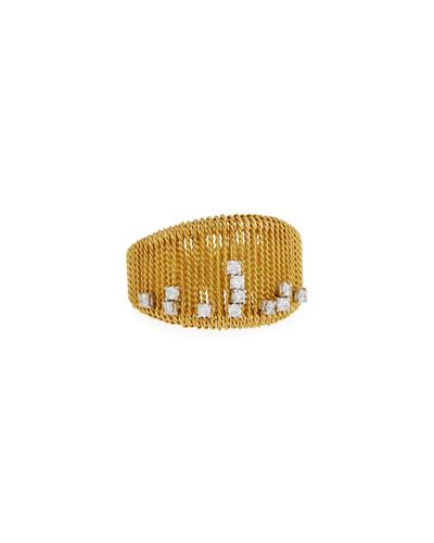 Renaissance 18k Gold Dancing Diamond Ring