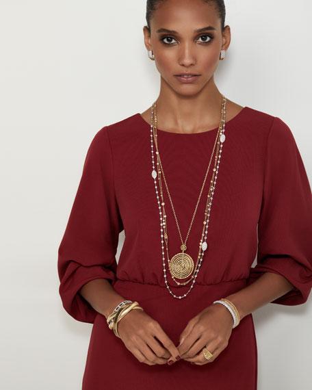 Staurino Fratelli Renaissance 18k Gold Dancing Diamond Cuff Bracelet