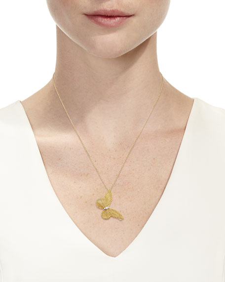 Image 3 of 3: Staurino Renaissance 18k Gold Butterfly Pendant Necklace