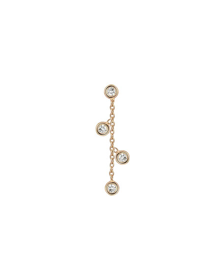 Kismet by Milka 14k Rose Gold Four-Diamond Stud Earring (Single)