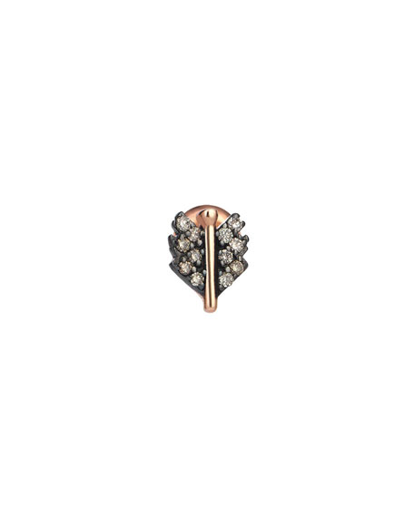 Kismet by Milka 14k Rose Gold Mini Quill Earring (Single)